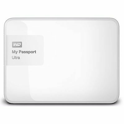 "Western Digital WD My Passport Ultra 2TB 2.5"" Portable External Hard Drive White"
