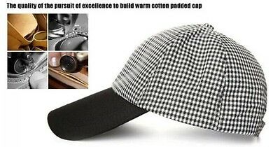 Black and White Grid Print Soft Casual Outdoor Activities Baseball Hats Cap