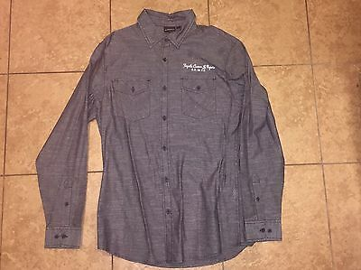 Jose Cuervo Tequila Large Grey Bottom Down Dress Shirt
