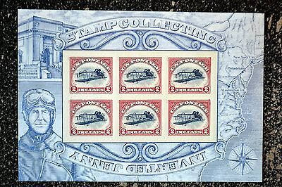 2013USA 4806 $2.00 - Inverted Curtiss Jenny - Mint Souvenir Sheet of 6 - dollars