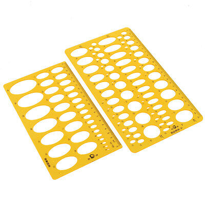 2-42mm Ellipse Oval Geometry Circles Stencil Ruler Technical Drawing Template