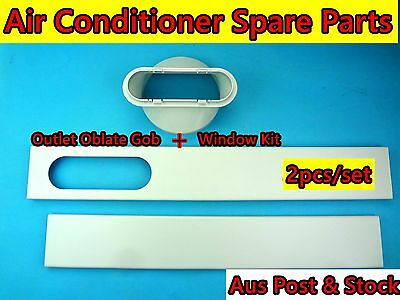 Portable Air conditioner Spare parts Outlet Oblate Gob+Window Slider Kit (15cm)