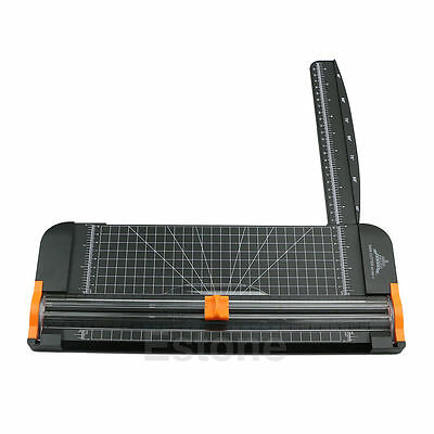 909-5 A4 Guillotine Ruler Paper Cutter Trimmer Cutter Black-Orange