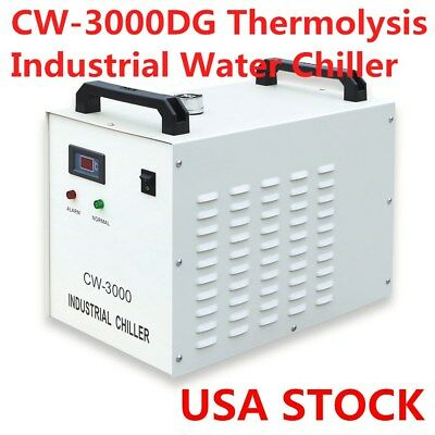 CW-3000DG Industrial Water Chiller for Laser Engraver 60W/ 80W CO2 Glass Tube US
