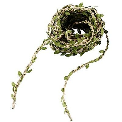 1 mtrs Nature Green Artificial Vine Foliage Leaf Leaves Garland Plant #359