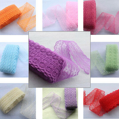 5 yds Lace Ribbon 4.5cm Wavy Bilateral Trim scrapbook sewing embroidered #377