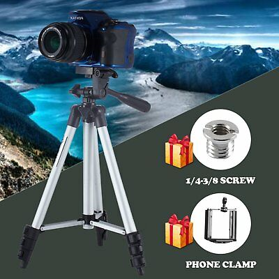 Universal Aluminum Portable Tripod Stand For Canon Nikon Camera Camcorder +Gifts