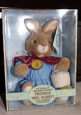 EDEN Beatrix Potter Premier Mrs Rabbit fully jointed in BOX 1994  Style 30551