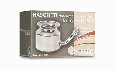 Stainless Steel Neti Pot for Sinus Congestion (Ayurvedic JalNeti) WS2