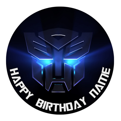 Transformers Personalised Edible Birthday Party Cake Decoration Topper Image