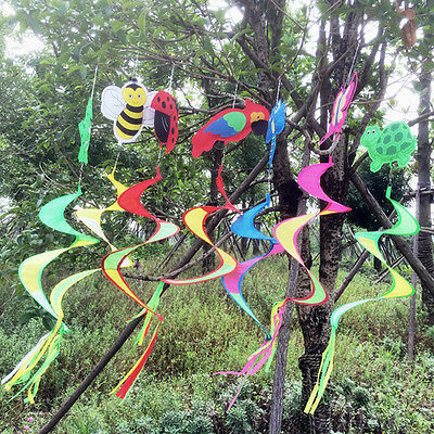 Cute Animal Spiral Windmill Colorful Wind Spinner Outdoor Decor Lawn Garden Yard