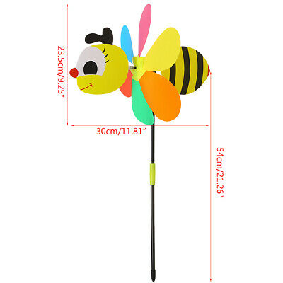 Cute 3D Bee Large AnimalWindmill Wind Spinner Whirligig Yard Garden Decor