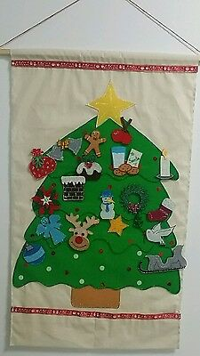 Felt Board Story Hanging Xmas Tree Advent Calender (Christmas)