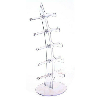 5 Pairs Sunglasses Glasses Show Rack Counter Display Stand Holder White DT