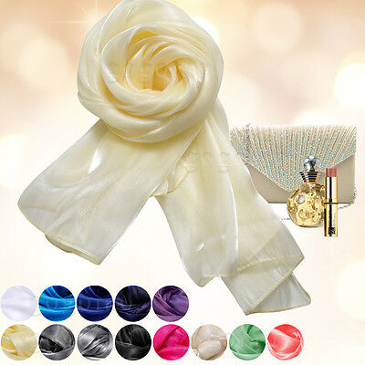 Silky Iridescent Wrap Stole Shawl For Weddings Bridal Bridemaids Evening Wear