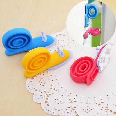 3pcs Safety Cute Cartoon Snail Silicone Wedge Doorstops Stopper Children Baby