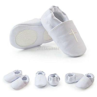 Baby Boy Girl Cross Baptism Christening Shoes Church Sole Leather Shoes Boots
