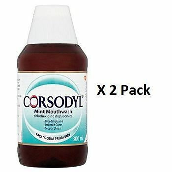 Corsodyl Mint Mouthwash 300ml  x 2 Pack