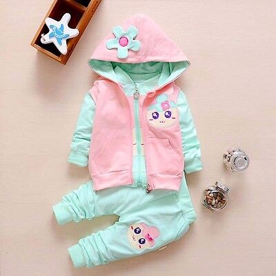NEW!Girl 3 pcs clothing set tracksuit (top+vest+pants) 3-4 years (from UK)
