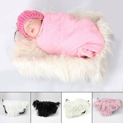 Newborn Baby Soft Photography Photo Prop Infant Backdrop Throw Blanket Rug NEW