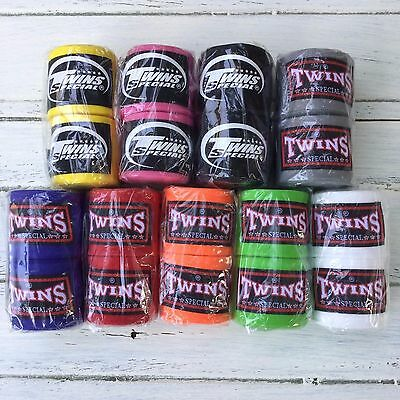 TWINS hand wraps Muay Thai Boxing Stretchy Elastic handwraps Kickboxing MMA