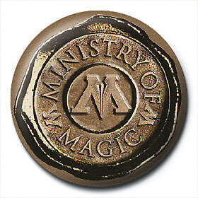 Harry Potter Pin Badge Button Brooch Ministry Of Magic Seal Crest Logo Official