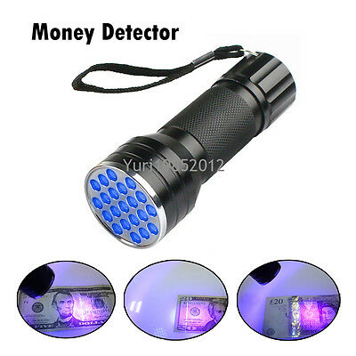 UV Ultraviolet Torch Counterfeit Fake Forgery Bank Note Money Detector Checker