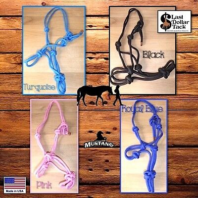 Horseman's Halter~Thicker Quality Braid Nylon With Fiador Knots~Western~Parelli