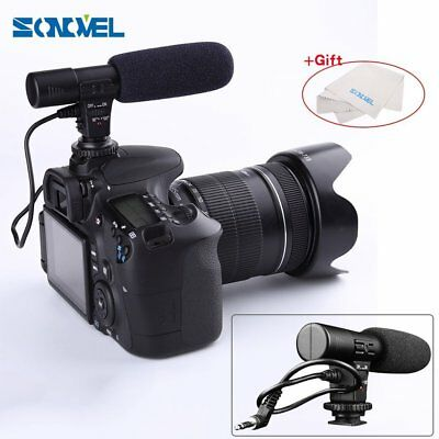 Professional Shotgun Condenser D-SLR Camera Microphone for Canon Nikon MIC01