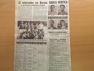 1960-61.European Cup.Final.FcBarcelona- Benfica. Pre -match.