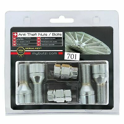 Butzi Chrome Plated Anti Theft Locking Wheel Bolts & 2 Keys for Vauxhall Astra