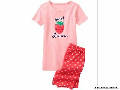 Gymboree Sweet Dreams Strawberry Gymmies, Pajama Sleepwear Nwt Size 4 5 6 7 8 10