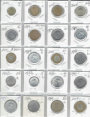 TURKEY Lot of 20 Different Coins