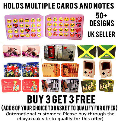 All Designs Bus Pass Credit Travel Rail Holder Slim Wallet For Oyster Card Lot