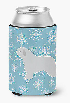 Winter Snowflake Spanish Water Dog Can or Bottle Hugger