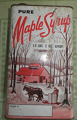 VTG CANCO Maple Syrop Tin!!A WORK OF ART