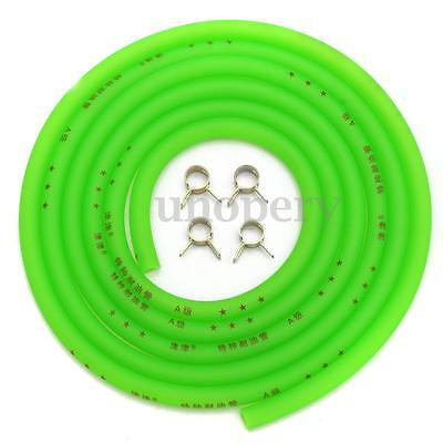 Motorcycle Fuel Line Petrol Pipe 4mm I/D x 8mm O/D 2.14m Length Fuel Hose GREEN