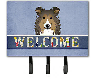 Carolines Treasures  BB1428TH68 Sheltie Welcome Leash or Key Holder