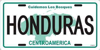 """Honduras Letters 6""""x12"""" License Plate Sign"""