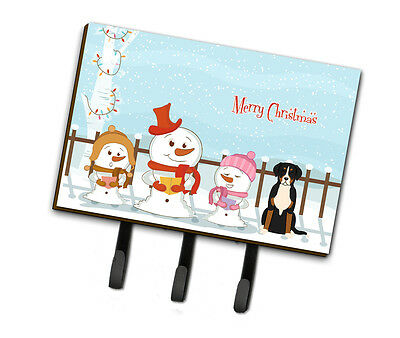 Merry Christmas Carolers Greater Swiss Mountain Dog Leash or Key Holder
