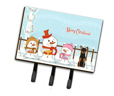 Merry Christmas Carolers Manchester Terrier Leash or Key Holder