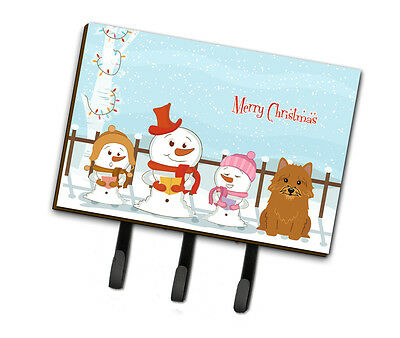 Merry Christmas Carolers Norwich Terrier Leash or Key Holder