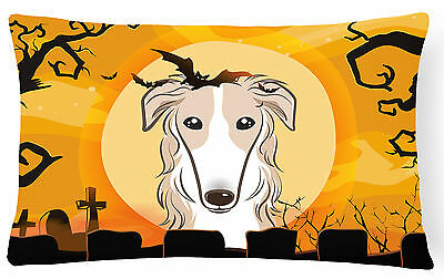 Carolines Treasures  BB1786PW1216 Halloween Borzoi Fabric Decorative Pillow