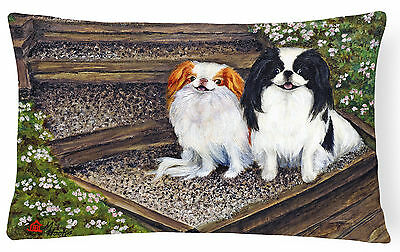 Japanese Chin Daddy's Girls Fabric Decorative Pillow