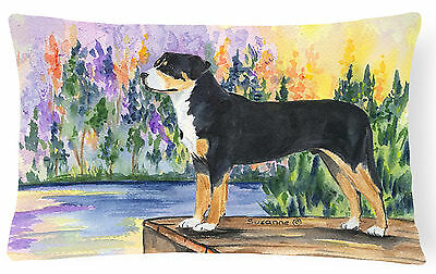 Greater Swiss Mountain Dog Decorative   Canvas Fabric Pillow