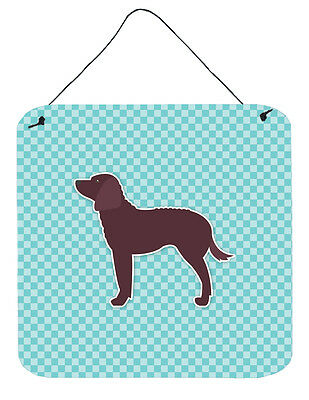 American Water Spaniel  Checkerboard Blue Wall or Door Hanging Prints