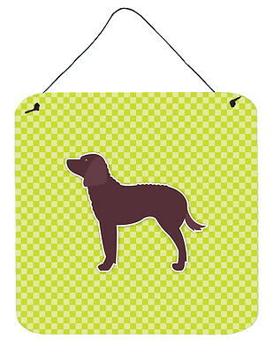 American Water Spaniel Checkerboard Green Wall or Door Hanging Prints