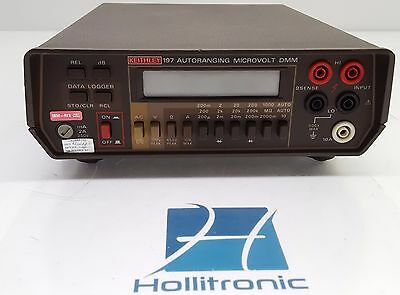 Keithley 197 Autoranging Microvolt DMM 250V with test leads accessories