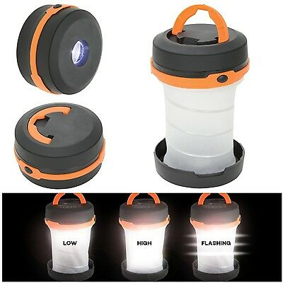 LYYT Bright 1W LED Pop Up Foldable Camping Fishing Outdoor Lantern & Flashlight