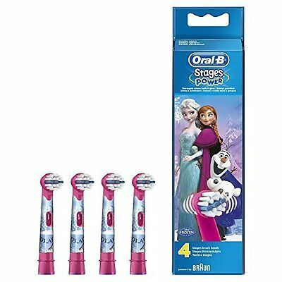 Braun Oral B Stages Disney Frozen Kids Replacement Brush Heads - NEW